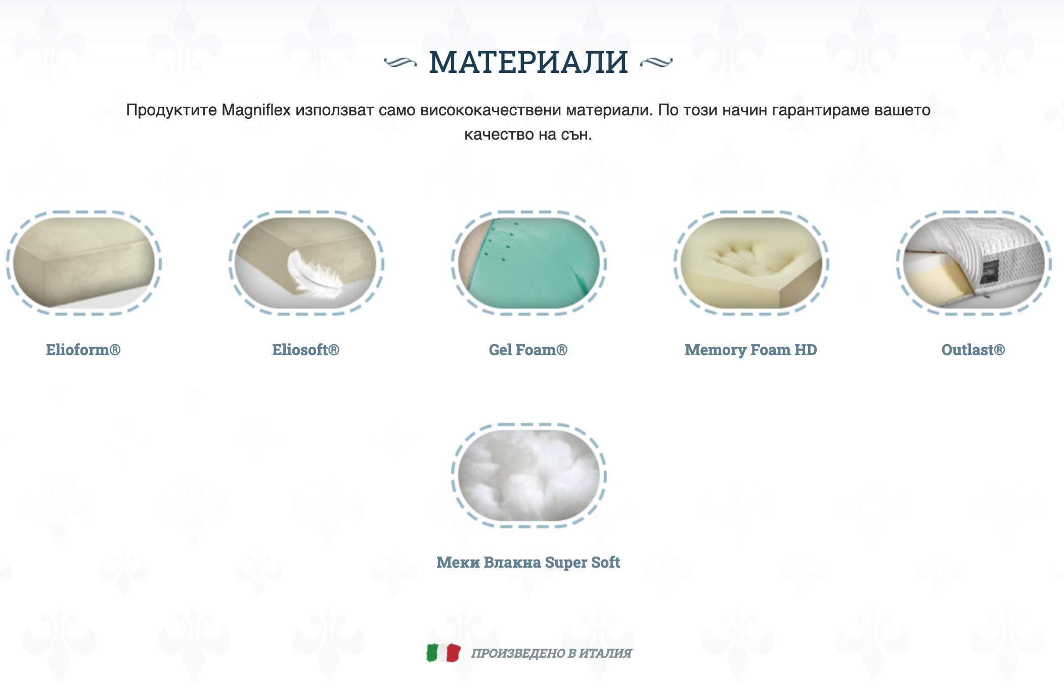 Матраk Magniflex – Diamante Dual